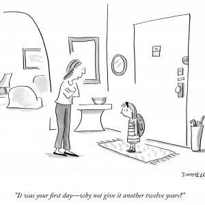 Donnelly New yorker- first day, another twelve years