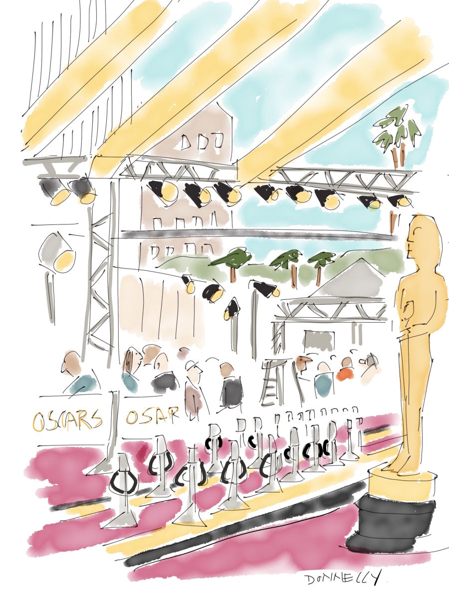 Live Drawing the 2016 Oscars And Red Carpet In Hollywood | Liza ...