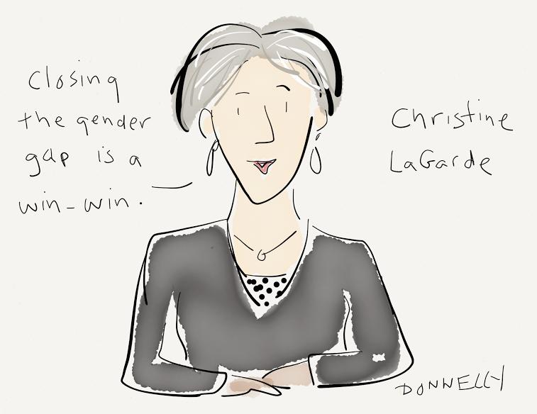 Christine LaGarde - Liza Donnelly